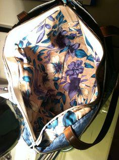 Inside the garden jean bag