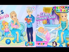 Juegos de Frozen - Elsa 's Del Nacimiento Del Bebé  E Elsa Amamantar