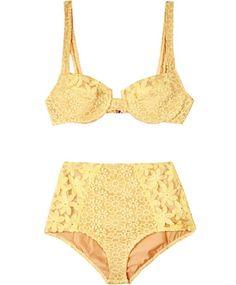 Lemon Bustier Bikini