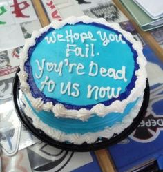 Cake for your departing coworker