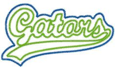Gators Double Applique embroidery design by PerfectPretties, $7.00