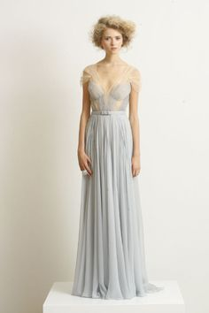 "I would love to wear this. Wouldn't it be a pretty ""alternative"" wedding dress in the grey / blue?"