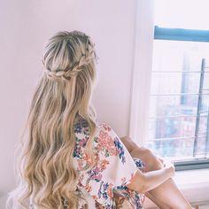 """7 Likes, 1 Comments - Hair Styles (@hair.hairstyles_) on Instagram: """"#stolen #braidcrown #longhair #blondie"""""""