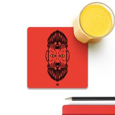 Cool new product 2 Beardiful On Re...   Check out http://www.colorpur.com/products/2-beardiful-on-red-coaster-artist-life-art?utm_campaign=social_autopilot&utm_source=pin&utm_medium=pin