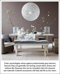 Inviting Dining Rooms Canadian House & Home Sherwin Williams Poised Taupe, Canadian House, Color Of The Year 2017, Diy Light Fixtures, Grey Room, Home And Deco, Grey Walls, Purple Walls, Color Walls
