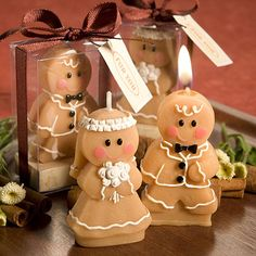 Gingerbread Bide and Groom Candles | Flickr - Photo Sharing!