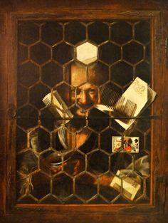 Gaukler am Fenster -  Samuel van Hoogstraten (1627-1678). Öl auf Leinwand, Mitte 17. Jh