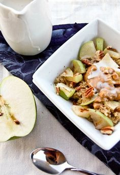 Apple and Peanut Butter Breakfast Quinoa-4