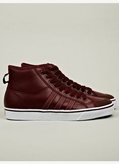 lowest price 71e72 16c5c adidas Originals Men s Nizza Hi fleece lined sneaker in red for Autumn  Winter