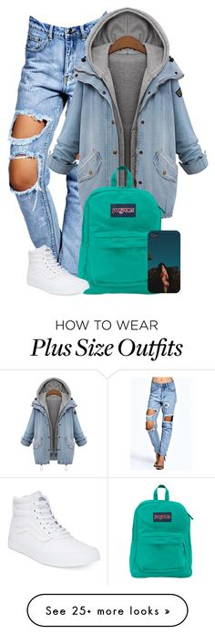 """""Being Alive, Doesn't  Mean your Living"" ✌✌✌"" by gxldenqueen on Polyvore featuring Boohoo, JanSport and Vans"