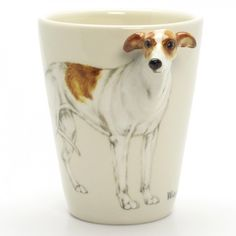 Whippet Dog Lover Mug 00001 Ceramic 3D Coffee Cup Handmade Gift.