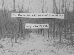 Is there no way out of the mind? Sylvia Plath yes Syl, it's fish oil. Poetry Quotes, Words Quotes, Wise Words, Me Quotes, Sayings, House Quotes, Quotable Quotes, Book Quotes, Writers And Poets