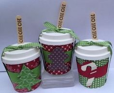 Christmas treats - mini coffee cups - Clear Cups & Coffee to go - Christmas Coffee, Christmas Minis, Christmas Treats, Christmas Wrapping, Christmas Cards, Mini Coffee Cups, Coffee Coffee, Coffee Maker, Coffee Beans