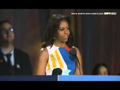 Michelle Obama Declaring Special Olympic World Games 2015 - YouTube