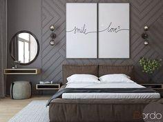 45 Elegant Small Master Bedroom Decoration Ideas - Home Decor Bedroom Colors, Home Decor Bedroom, Bedroom Wall, Bedroom Ideas, Headboard Ideas, Mirror Bedroom, Bedroom Pictures, Bedroom Dressers, Bedroom Plants