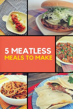 5 Meatless Meals to Make - perfect for Meatless Mondays, Lent Fridays, vegetarians and vegan dishes!   http://www.skinnedknees.net/5-meatless-meals-to-make/