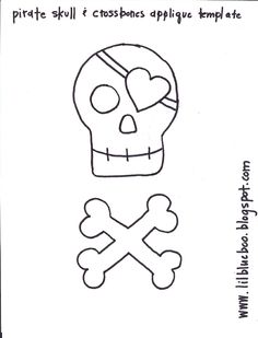 Pirate and Crossbones Template