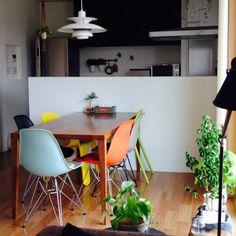 名古屋モザイクタイル/NO GREEN NO LIFE/イームズ/シェルチェア…などのインテリア実例 - 2015-04-01 09:03:22 | RoomClip(ルームクリップ)