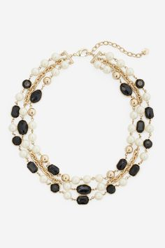 Black Gem And Pearl Necklace - Women's Jewelry | Coldwater Creek