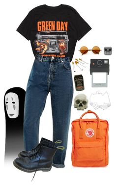 """grunge"" by shelly-alk ❤ liked on Polyvore featuring Hot Topic, Dr. Martens, Fjällräven, Kreepsville 666 and Donkey Products"