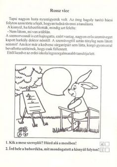 Szövegértés gyakorlásához feladatlapok, 2. osztály - kossuthsuli.lapunk.hu Worksheets, Printables, Album, Teaching, Signs, Comics, School, Archive, Diy