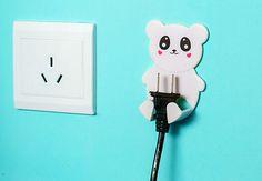free shipping,4pcs/lot Creative Household Home Practical Goods Decorative Socket Hook Kids Protect Convenient Safe Plug Hooks