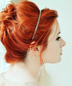 pretty color i love hair red orange :)