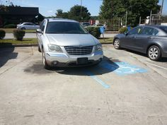 Major asshole.  Maybe they forgot their handicapped tag or mirror hanger...hmph!
