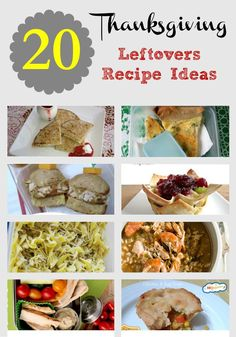 Do you have a ton of Thanksgiving leftovers in your fridge and freezer? Don't let them go to waste! Here are 20 Thanksgiving Leftovers Recipe Ideas