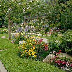 Front-Yard Sidewalk-Garden Ideas