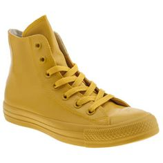 womens converse yellow all star hero rubber hi trainers Yellow Converse, Converse All Star, Converse Chuck Taylor, Ladies Converse, Kid Shoes, Shoe Boots, Yellow Trainers, Shoe Shop, High Top Sneakers
