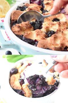 Blueberry Recipes With Almond Flour, Frozen Blueberry Recipes, Blueberry Cobbler Recipes, Blueberry Desserts, Blueberry Topping, Dairy Free Recipes, Keto Recipes, Gluten Free, Keto Dessert Easy