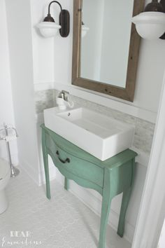 Delightful BEFORE U0026 AFTER: Jessicau0027s Gorgeous Narrow Half Bathroom Home Design Ideas