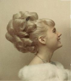 Todays 60s hair inspiration, this wonderfully over the top style