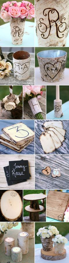 Rustic Woodland Wedding Decor and Accessories - Rustique Birch Tree Wedding, Forest Wedding, Woodland Wedding, Fall Wedding, Diy Wedding, Wedding Reception, Rustic Wedding, Dream Wedding, Wedding Ideas