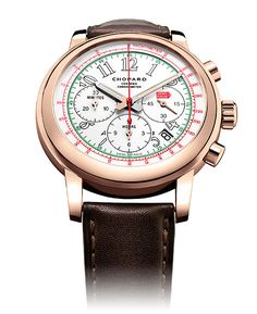 The newest Chopard Mille Miglia watch, which made its debut at Baselworld 2014, is the most distinctly Italian timepiece in the collection, which is inspired by the Mille Miglia classic car race.