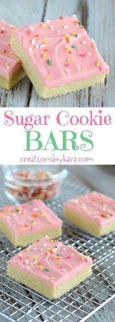 Best Ever Sugar Cookie Bars | Kara Cook (Creations by Kara)