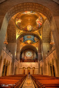 Basilica of the National Shrine of the Immaculate Conception, Washington, DC Roman Catholic, Catholic Churches, Monuments, Immaculate Conception, Cathedral Church, Photography Contests, Chapelle, Place Of Worship, Sacred Art