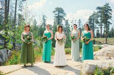 california rustic bridesmaids