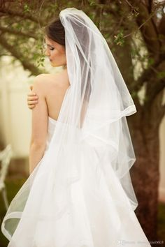 Bridal Veil Waltz Length Drop Style Sheer Organza Ribbon Edge And Blusher Circle Cut Wedding Veils with Comb Bridal Veil Waltz Length Wedding Veil 2017 Tulle Bride Veils Online with $49.38/Piece on Dressonline0603's Store | DHgate.com