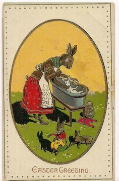Vintage Easter, Vintage Holiday, Holiday Postcards, Vintage Postcards, Old Cards, Easter Greeting Cards, Easter Parade, Easter Traditions, Easter Holidays