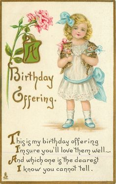Beautiful Birthday Postcards from the Early Twenty Century