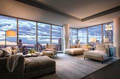 Appartement New York Rent - sabooga New York Penthouse, Luxury Penthouse, Penthouse Apartment, Luxury Condo, Dream Apartment, Apartment Interior, Home Interior, Luxury Homes, New York Apartment Luxury