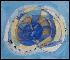 Gustav Bolin - Arabesques bleues #gallery #art #abstraction #paris #pfgarcier