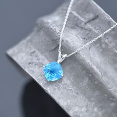 Blue Topaz Necklace, Amethyst Bracelet, Amethyst Earrings, Birthstone Pendant, Topaz Gemstone, Sterling Silver Necklaces, Handmade Jewellery, Gift Guide, Mothers