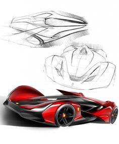 Ferrari Pegaso Design Sketches http://www.carbodydesign.com/design-sketch-board/ferrari/