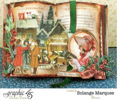 Christmas Card by Solange Marques - Graphic 45 Christmas Carol