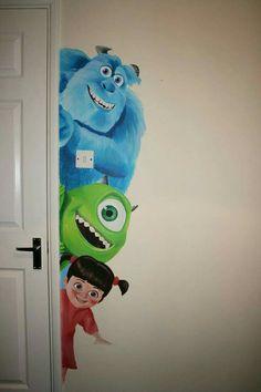 Babyzimmer Disney Monsters Inc 50 trendige Ideen, Baby Room Room disney Disney Kids Rooms, Disney Playroom, Disney Bedrooms, Disney Nursery, Kid Bedrooms, Girls Bedroom, Bedroom Ideas, Baby Bedroom, Nursery Ideas