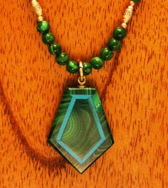 Malachite and Turquoise Intarsia with Sterling by SilkRoadJewelry