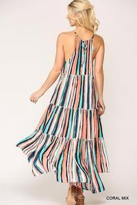 Bright and Bold Multi Stripe Maxi Dress – ClasSea Chic Boutique Hi Low Dresses, Striped Maxi Dresses, Teal, Bright, Boutique, Chic, Fashion, Shabby Chic, Moda